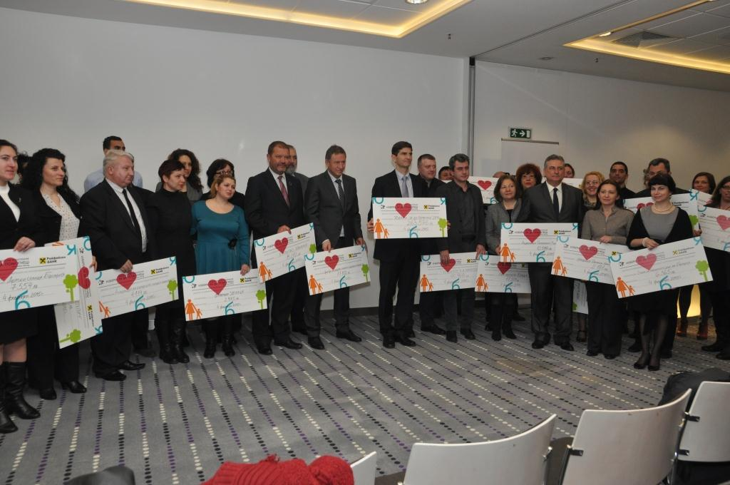 "BGN 263 576 were raised during the sixth campaign ""Choose to help"" 2014 initiated by Raiffeisenbank"