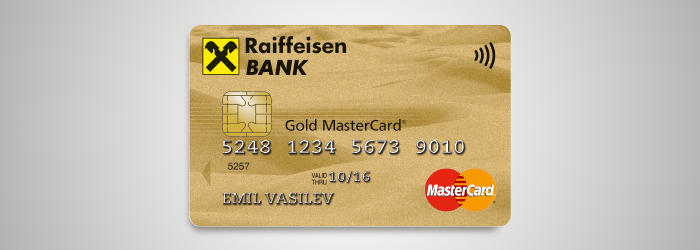 contactless credit card mastercard gold bank raiffeisenbank. Black Bedroom Furniture Sets. Home Design Ideas